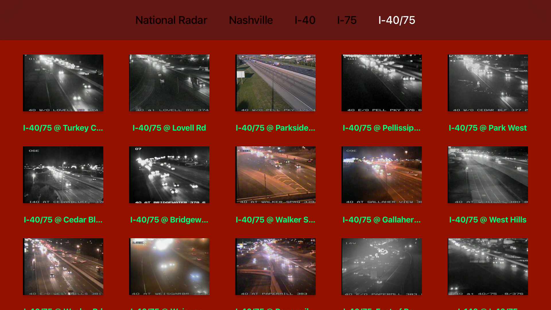 Tennessee NOAA Radar with Traffic Cameras 3D screenshot 13