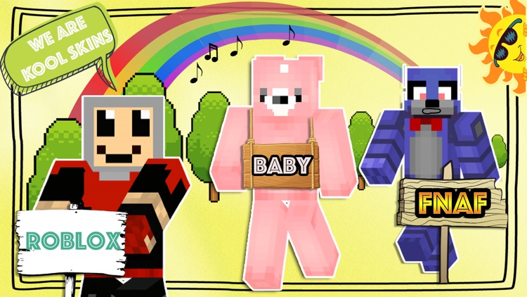 FNAF Roblox and Baby Skins for Minecraft PE