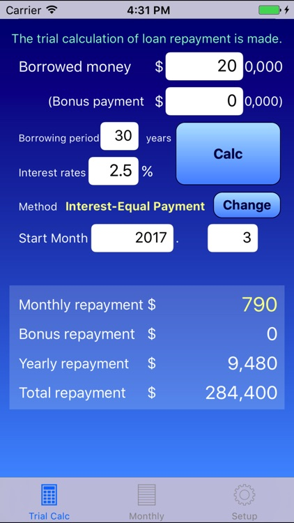 Loan Calculation Anywhere