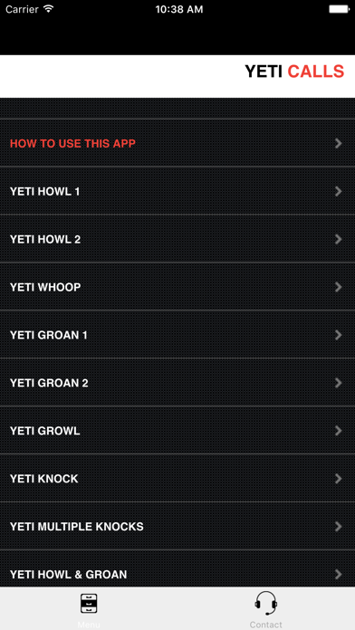 Yeti Calls screenshot two