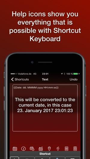 Shortcut Abkürzungen Keyboard Screenshot