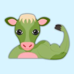 Saint Patrick Cow Lover Stickers
