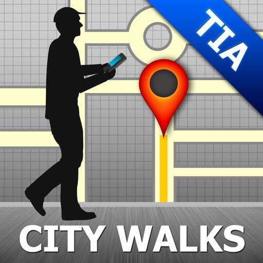 Tirana Map and Walks, Full Version