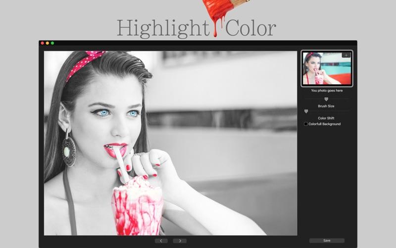 Highlight Color 2 - Photo Splash & Color Change for Mac
