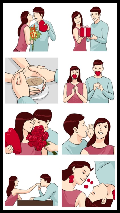 Lovers Couple 3 Stickers screenshot-3