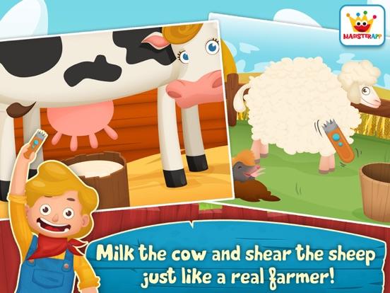 App voor peuters & Dieren Spelletjes: Dirty Farm iPad app afbeelding 2