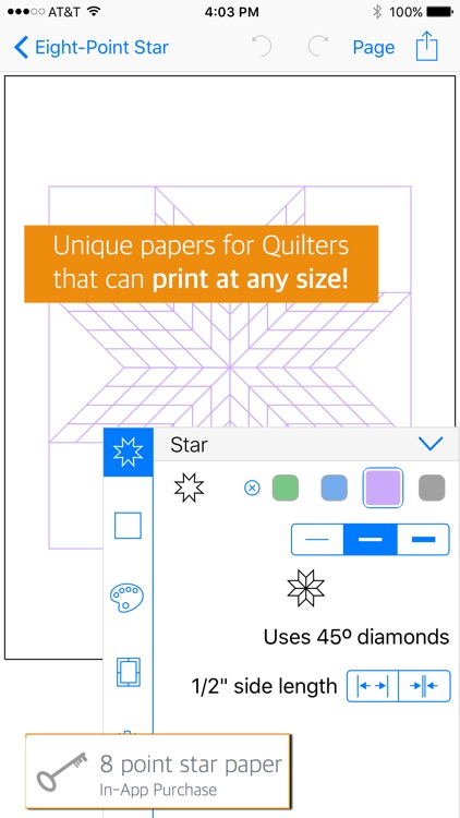 QuiltPaper - Graph paper for Quilters screenshot-4