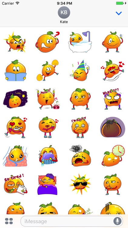 Emoji Oranges Stickers