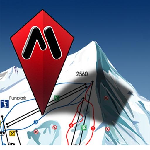 GPS on ski map by Maprika