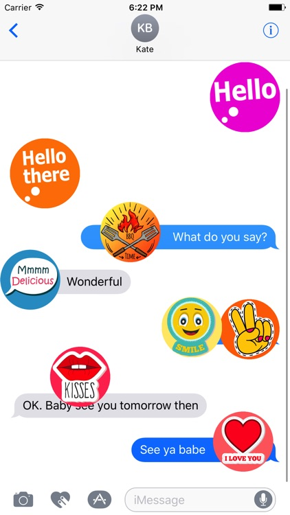 Round Hundred Stickers screenshot-1