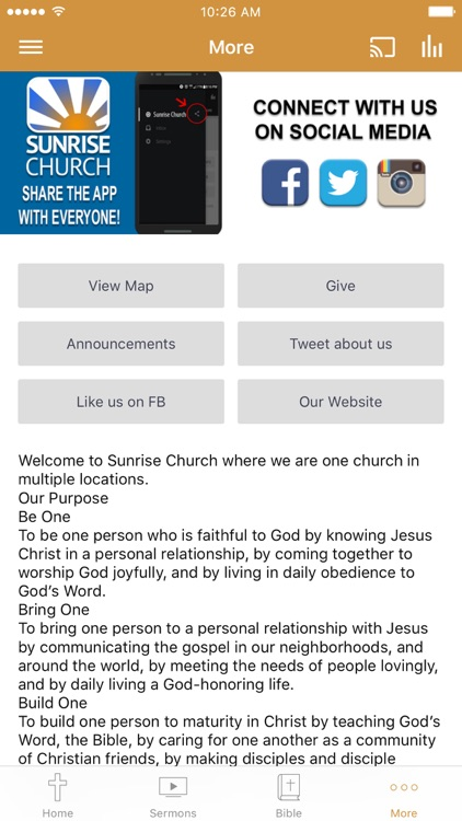 Sunrise Church - California