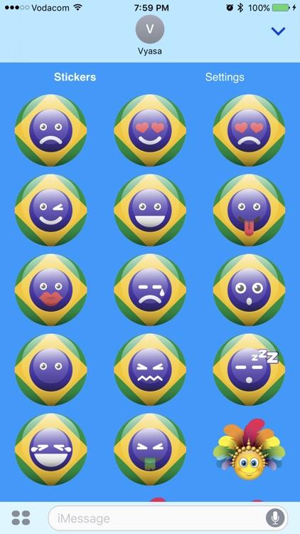 Brazil Emoji Stickers screenshot-4