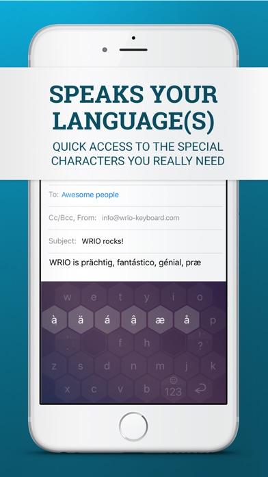 WRIO Keyboard Screenshots