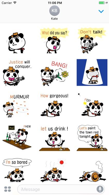 Cowboy Jack the panda stickers