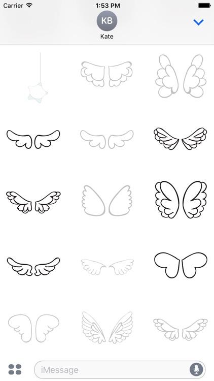 Animated Cute Angel Wing Stickers screenshot-3