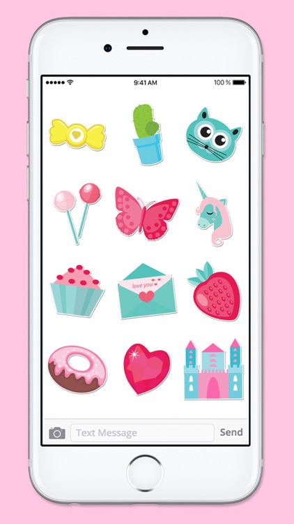 Pretty Pink Stickers Princess Sticker Pack screenshot-4