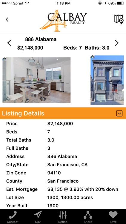 CalBay Realty Home Search screenshot-3