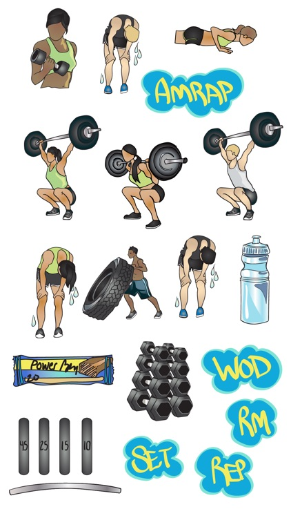 Crossfit & Weightlifting Stickers and Emojis screenshot-3