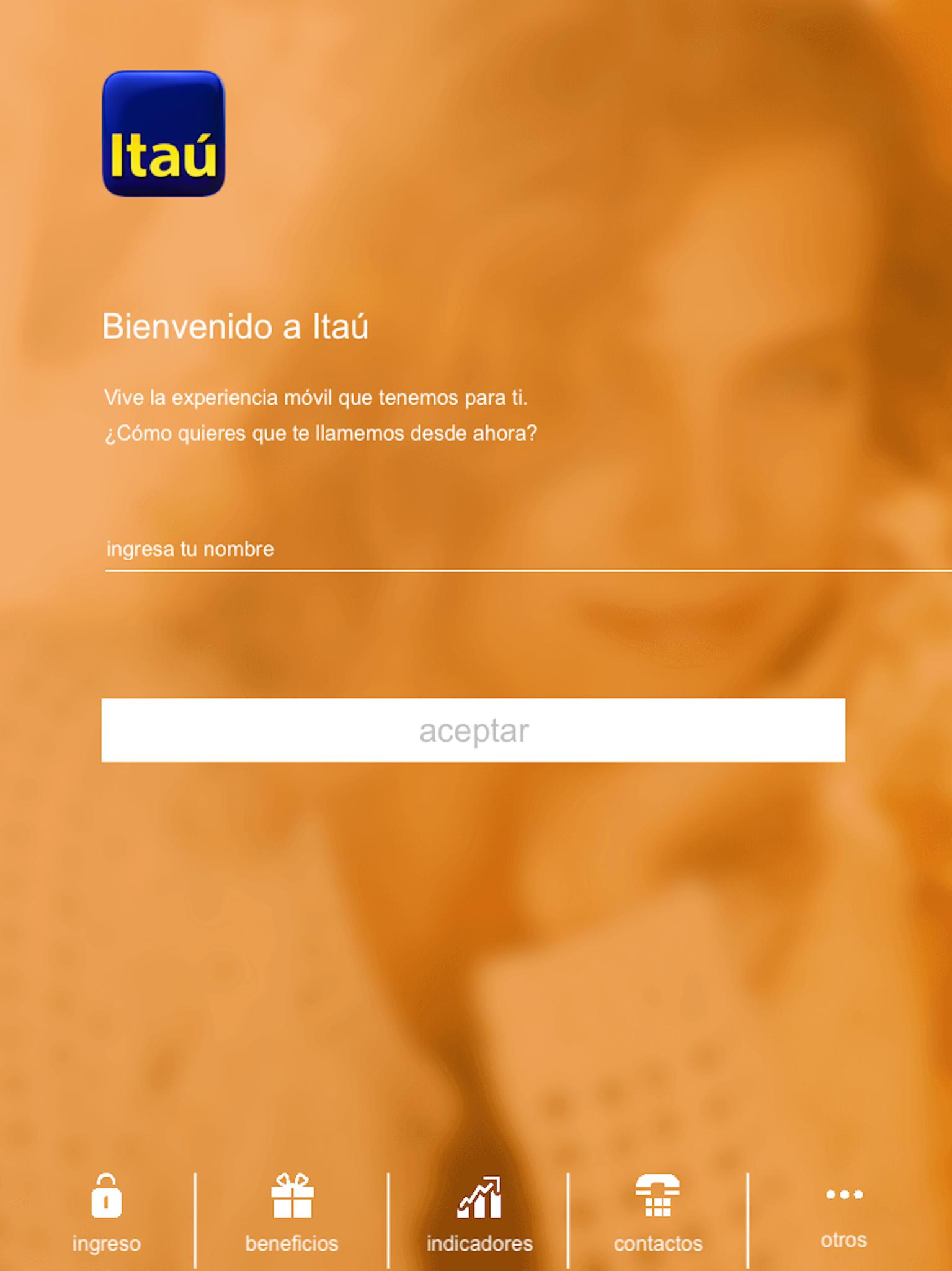 Itaú Chile para iPad Screenshot