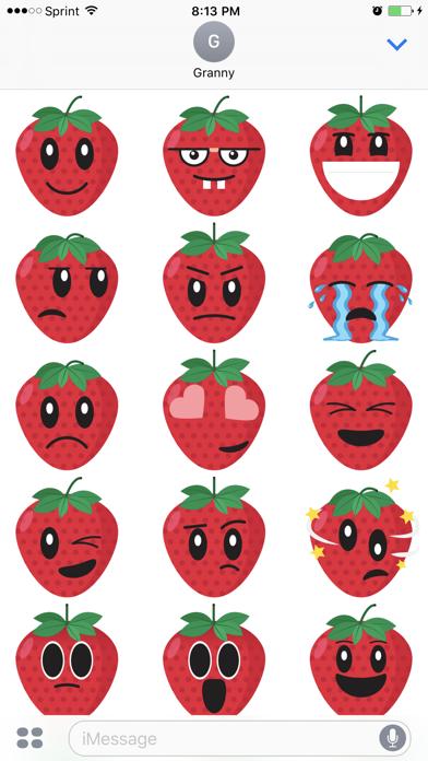 Friendly Fruits Sticker Pack screenshot four