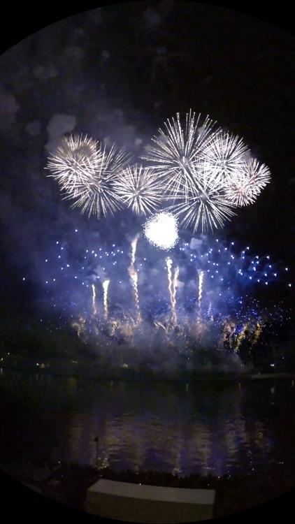 VR City Fireworks Big Wheel Virtual Reality 360