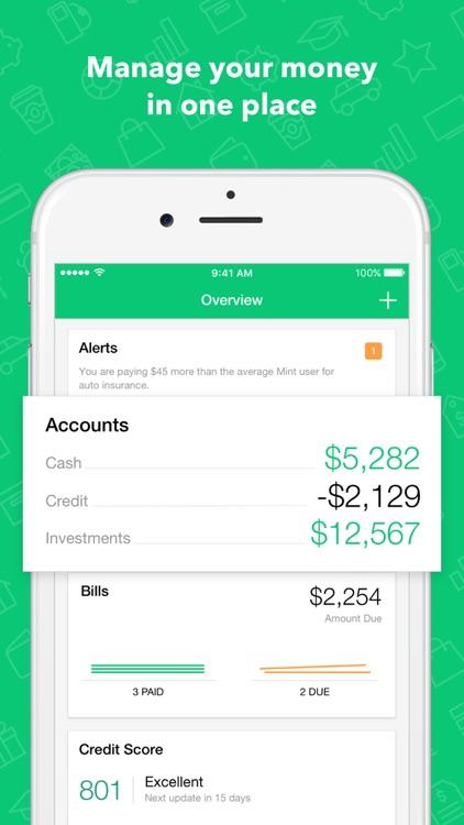 Mint: Personal Finance, Budget, Bills & Money screenshot-0