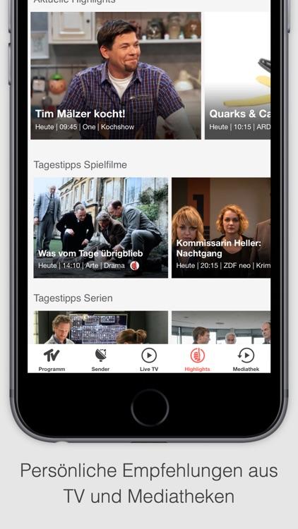 TV SPIELFILM - TV Programm mit Live TV screenshot-3