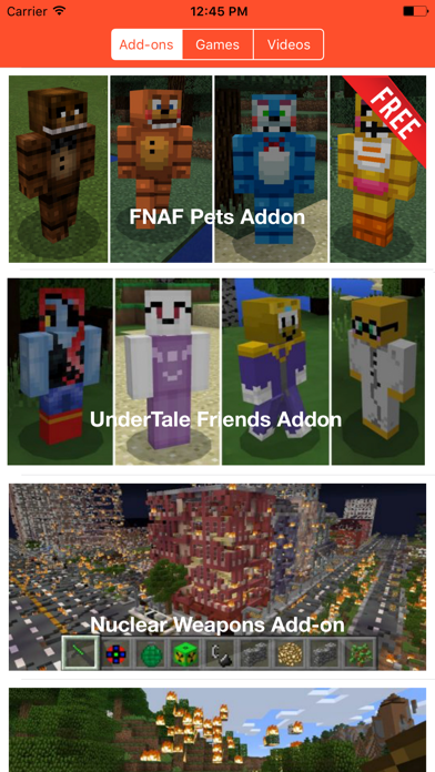 Screenshots of FNAF ADD ONS FOR MINECRAFT PE GAME for iPhone