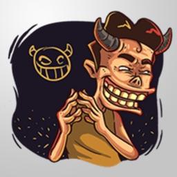 Crazy Man Stickers