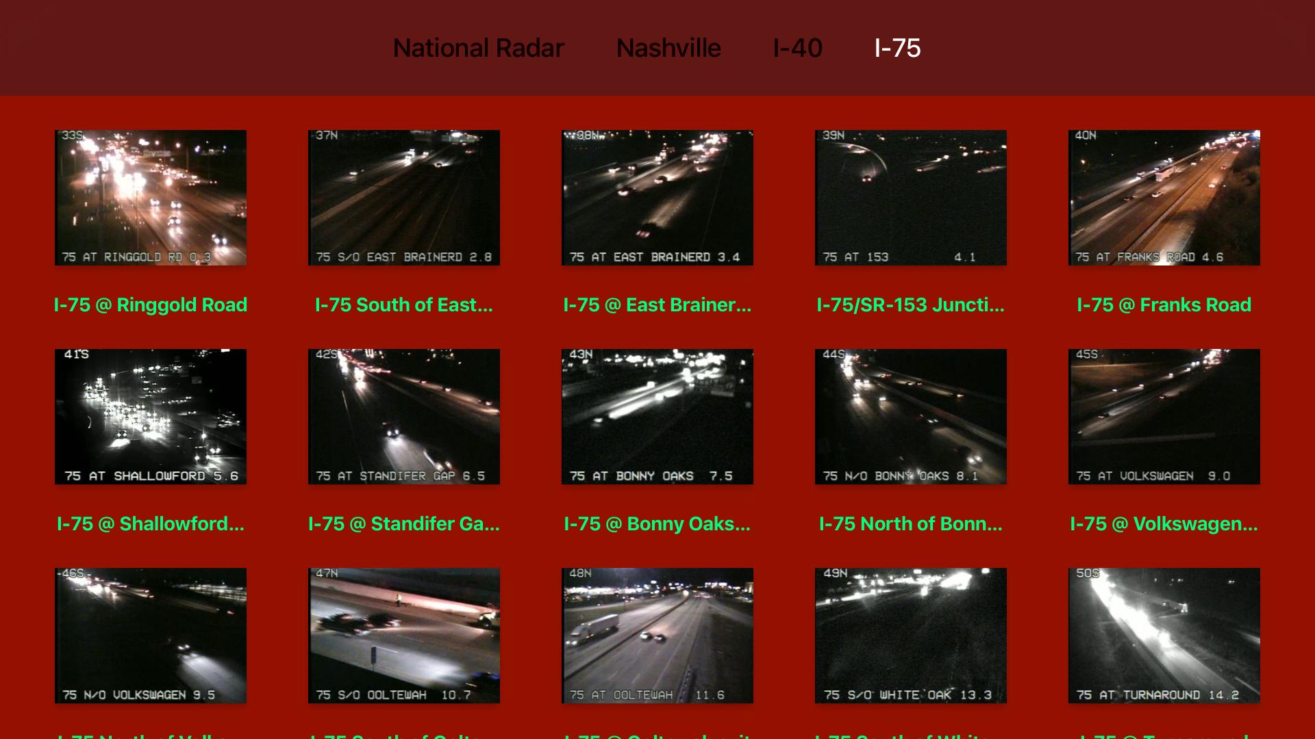 Tennessee NOAA Radar with Traffic Cameras 3D Pro screenshot 12
