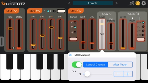 Lorentz Synthesizer Screenshot