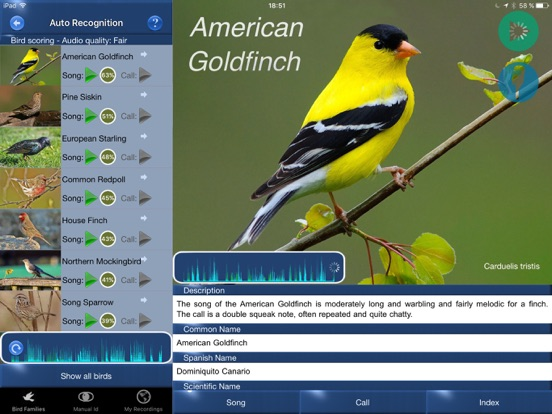 Bird Song Id USA Automatic Recognition Birds Songs-ipad-0