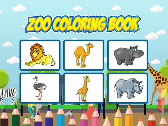 Zoo Coloring Book : animals color pages for adults   App Price ...