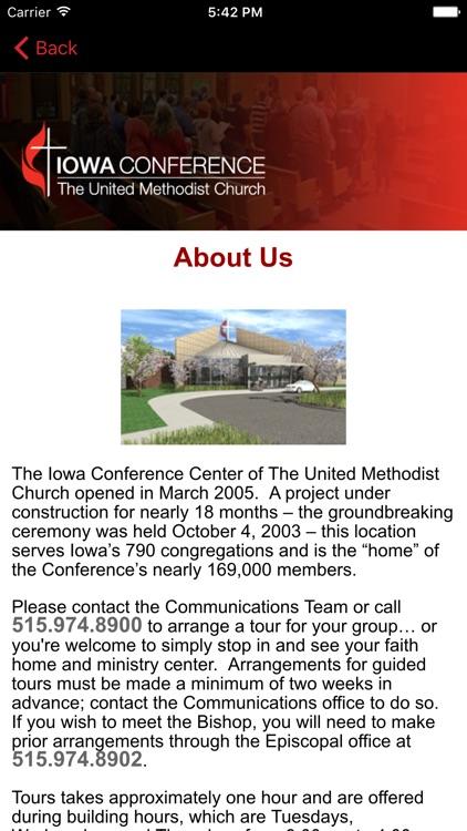 IA United Methodist Conference. screenshot-3