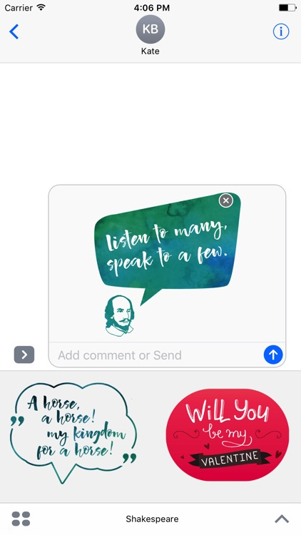 William Shakespeare's Quotes for iMessage Stickers screenshot-4