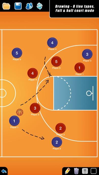 Screenshot for Coach Tactic Board: Basket++ in Qatar App Store