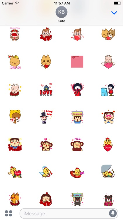 Animated XoXo Chat Stickers For iMessage