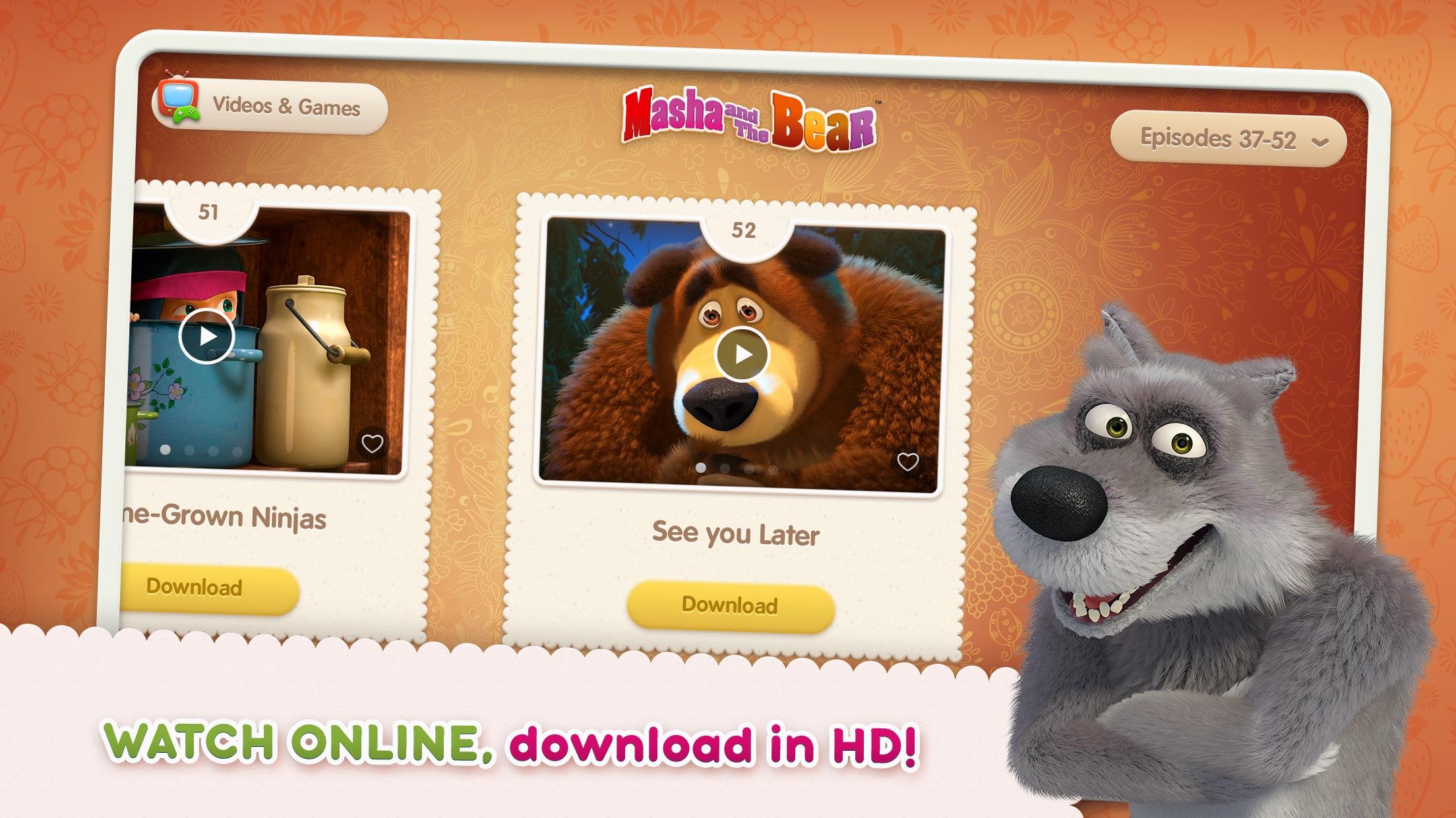 Masha and the Bear see & play Screenshot
