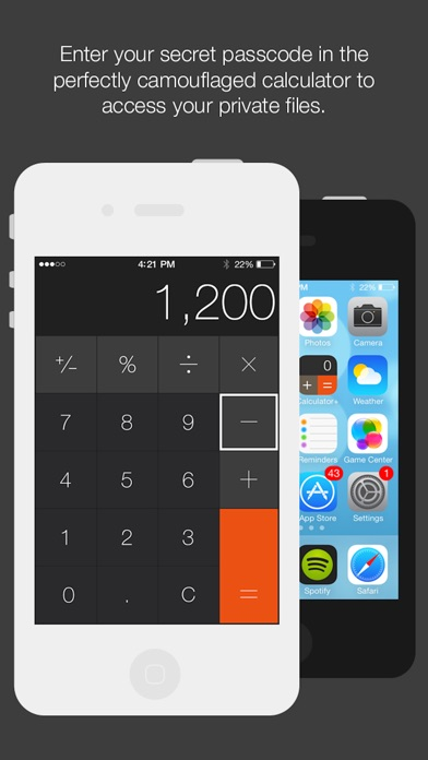 Calculator safe app