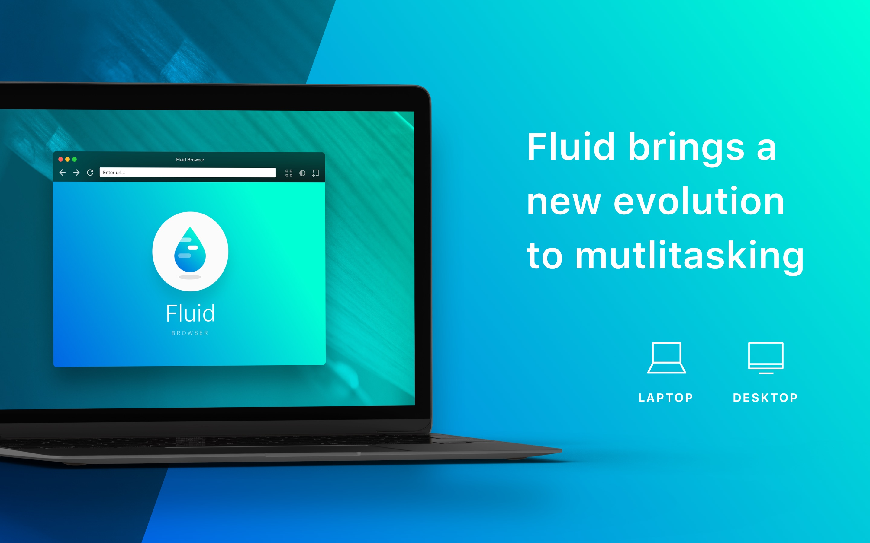Screenshot do app Fluid Browser