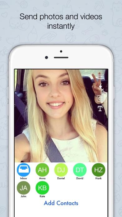 Quikchat Selfie  Photo & Video Camera Messenger