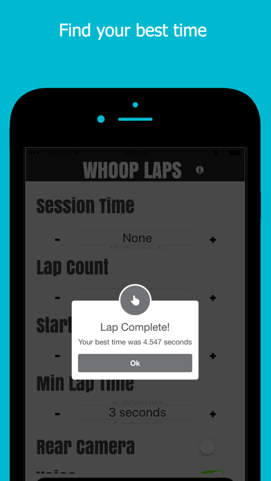 Whoop Laps - Motion activated lap timing system screenshot four