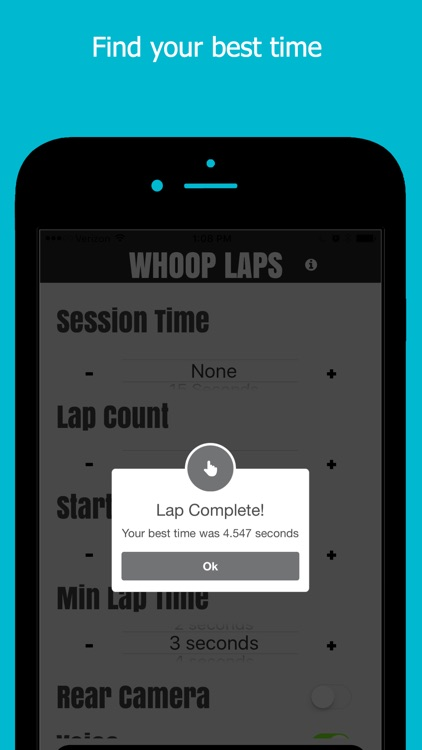 Whoop Laps - Motion activated lap timing system screenshot-3