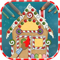 Activities of Christmas House Coloring Book