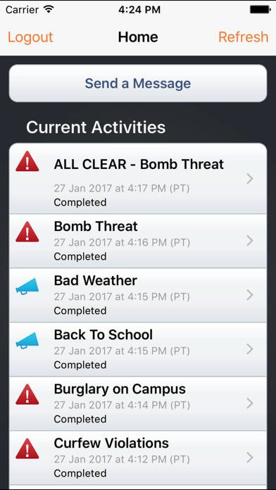 Blackboard Connect for iPhone screenshot two