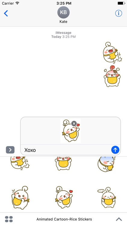 Cartoon-Rice Stickers Pack For iMessage