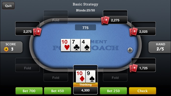 Tournament Poker Coach Texas Holdem Screenshot