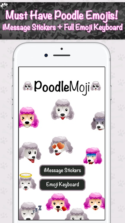 PoodleMoji - Poodle Lovers Emojis and Stickers screenshot-0