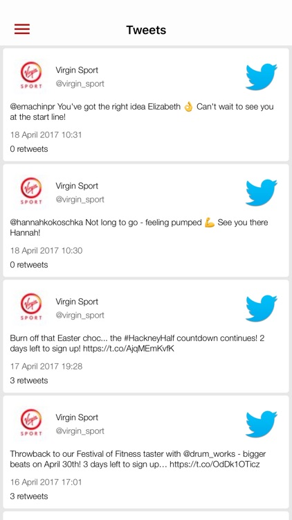 Virgin Sport Festivals app image