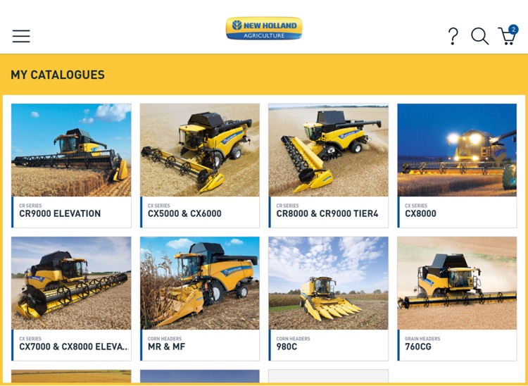 New Holland Harvesting parts